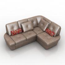 Sofa martin Pushe 3d model