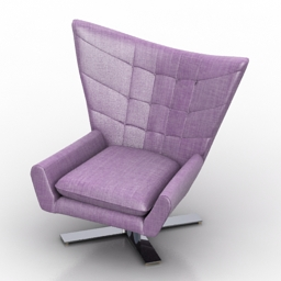 Armchair Louis 3d model download