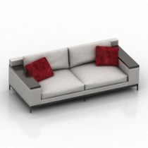 Sofa Christian Liaigre Beluga 3d model