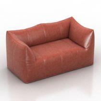 Sofa b&b italia le bambole 07 Mario Bellini 3d model