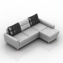 Sofa klaid Pushe 3d model
