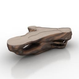 Table tree decor 3d model