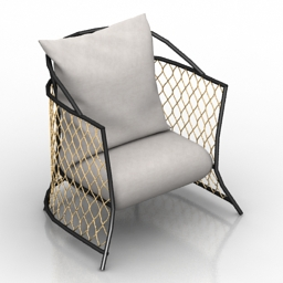 Armchair Farnese 3d model