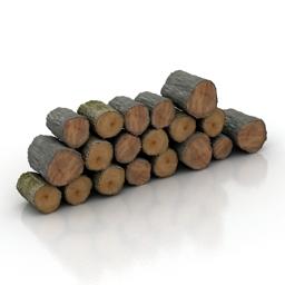 Logs 3d model