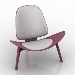 Armchair Carl Hansen Chair 3d model