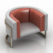 Armchair sofa mini 3d model