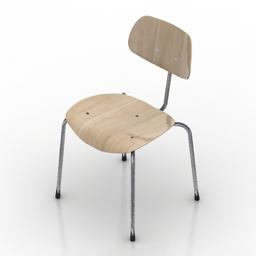 Chair Egon Eiermann SE68 3d model download