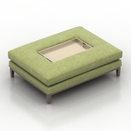 Seat with tray 3d model