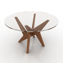 Table Retro Design 3d model