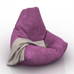 Armchair Bin Bag 3d model