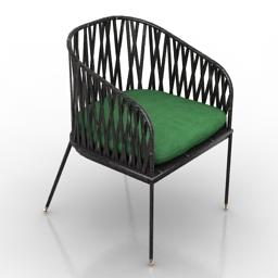 Armchair wicker 3d model
