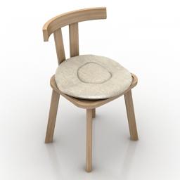 Chair Grey 23 Gervasoni 3d model