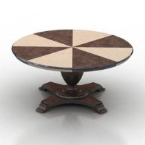 Table Biscotus Seven Sedie Royale 3d model