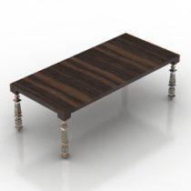 Table dining I Square Designer 3d model