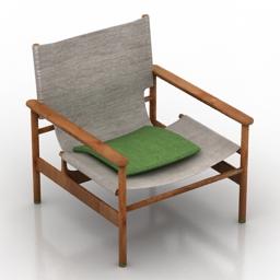 Armchair Pollock Formdecor 3d model