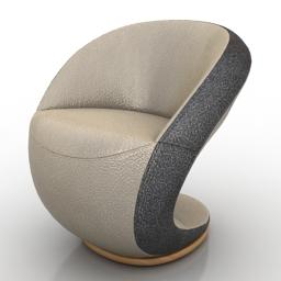 Armchair Blanche Quirina 3d model