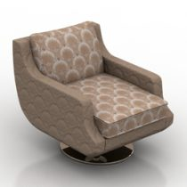 Armchair JNL Trouville 3d model