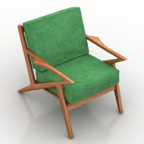 Armchair Soto chair Joybird furniture 3d model