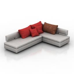 Sofa Blanche Maleta 3d model download