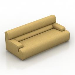 Sofa Blanche Metropole 3d model