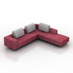 Sofa arena dls 3d model