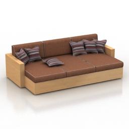 Sofa-bed 3d model