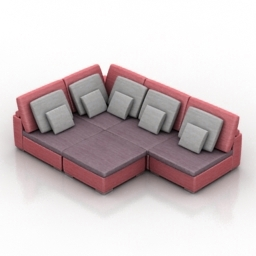 Sofa kolizey dls 3d model