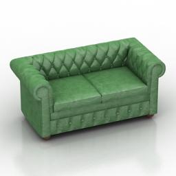 Sofa kuin dls 3d model