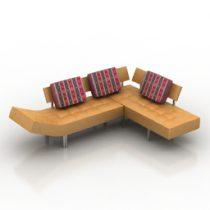 Sofa regina dls 3d model