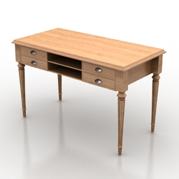 Table Blanc Divoire Simo 3d model