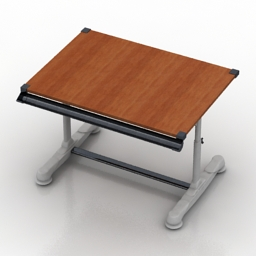 Table Student 3d model