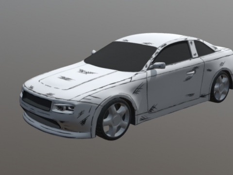 Black and white Car 3D model