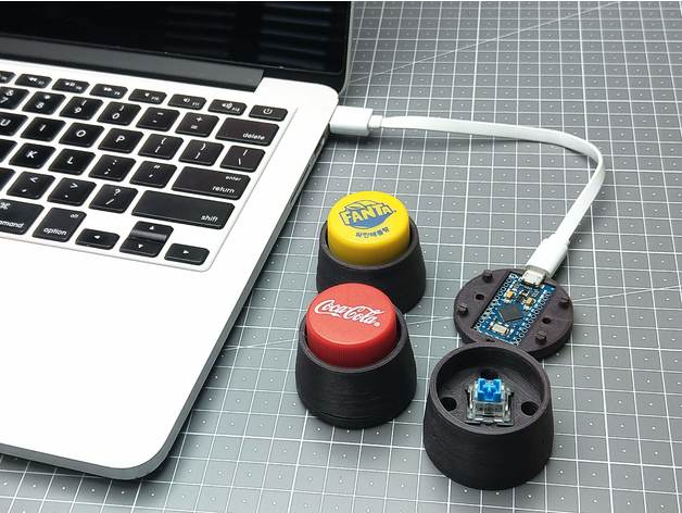 Bottle Cap Keyboard