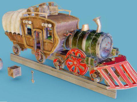 Fantasy Locomotive Train 3D model