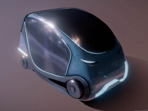 Futuristic Neon Smartcar