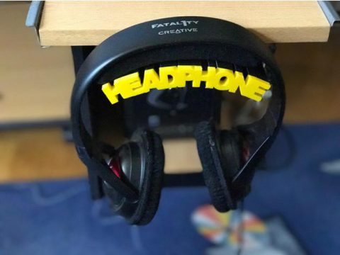 Headphone Holder (slightly curved)