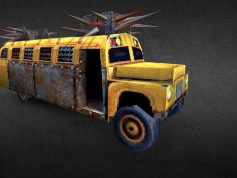 Low Poly Battle Bus