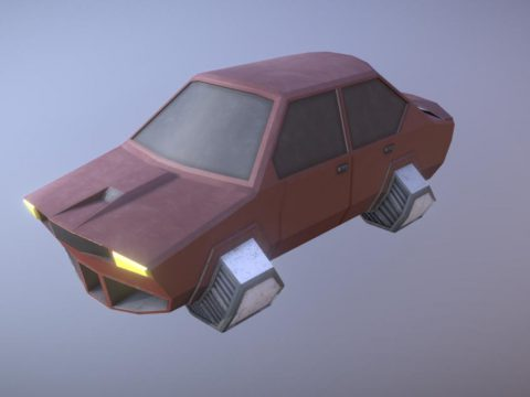 Low poly hovercar