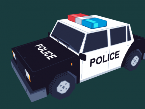 Pixel Police Car