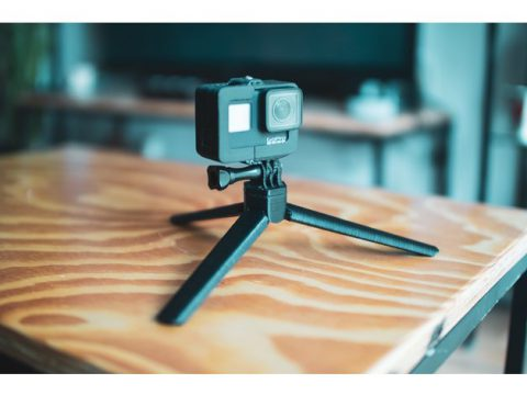 Print in place GoPro mini tripod mount