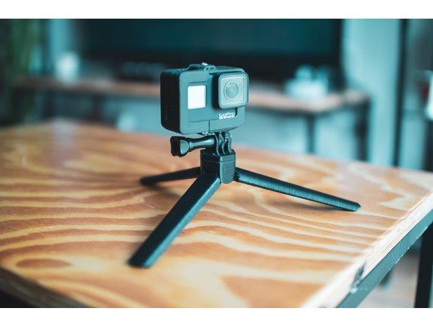 Print in place GoPro mini tripod mount