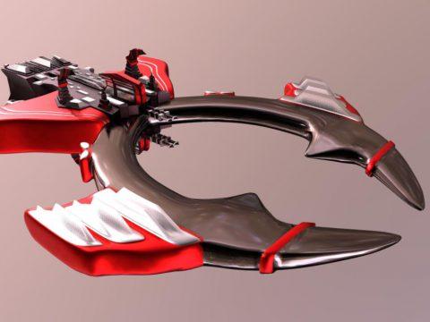Red Goliath Spaceship - darkorbit game