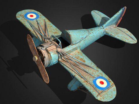 Rusty Iron Toy Airplane