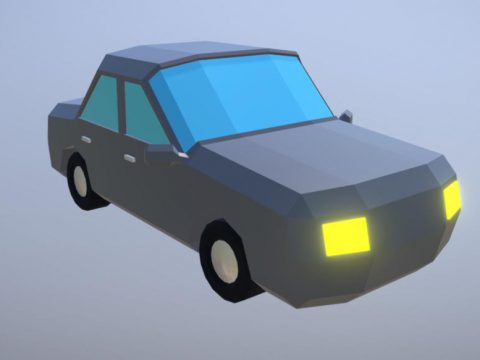 Simple Low Poly Car 3D model
