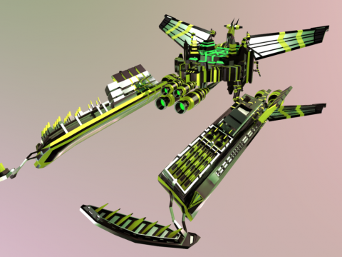 Solace spaceship - darkorbit videogame