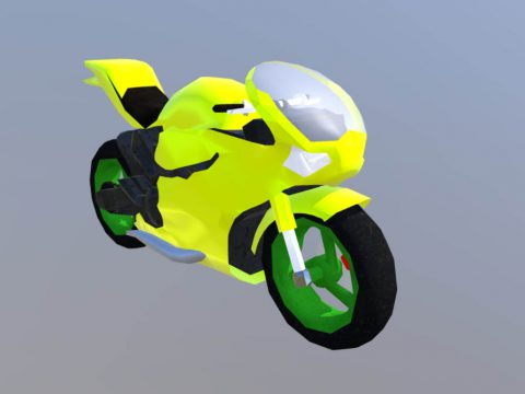 Superbike Low Poly 3D model