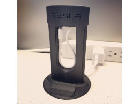 Tesla Phone Charger For Desk Grommet