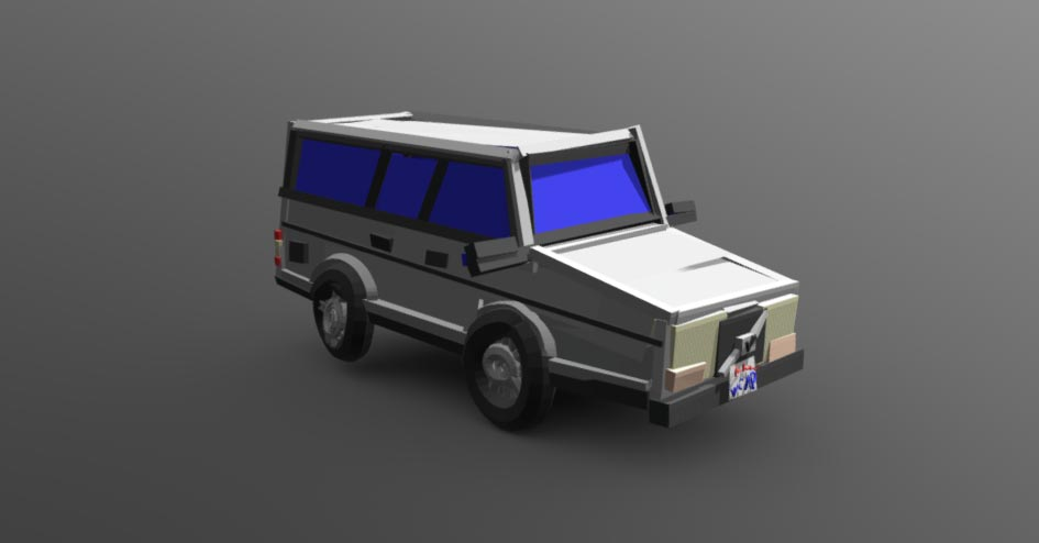 The Womp Wagon 1986 Volvo 245 Free 3d Models