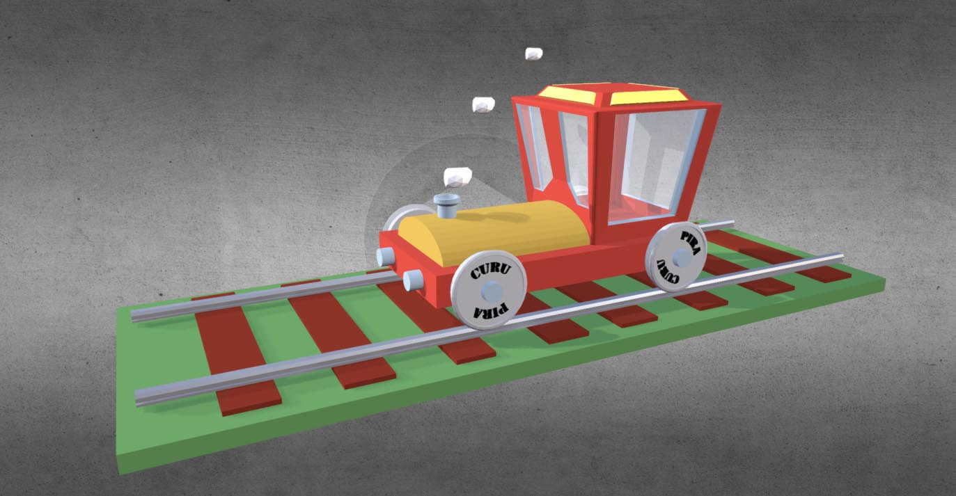 The lonely train 3D model