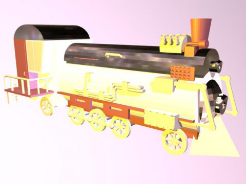 Stimpack train 3D model